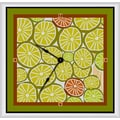 Green Leaf Art 11'' Art Wall Clock