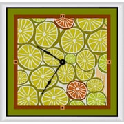 Green Leaf Art 16'' Art Wall Clock