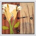 Green Leaf Art Lilies 20'' Art Wall Clock