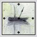 Green Leaf Art Boat II 16'' Art Wall Clock