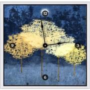 Green Leaf Art Forests 16'' Art Wall Clock