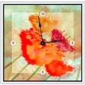 Green Leaf Art Tones 20''  Art Wall Clock