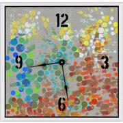 Green Leaf Art Party Circles 16''  Art Wall Clock
