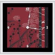 Green Leaf Art Abstract Floral 11'' Art Wall Clock