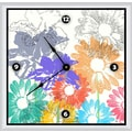 Green Leaf Art Spring Floral Shapes 20'' Art Wall Clock