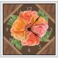 Green Leaf Art Floral Arrangements 11'' Art Wall Clock