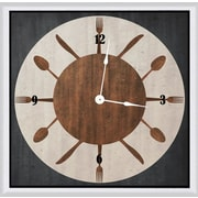 Green Leaf Art Circle Silverware 20'' Art Wall Clock