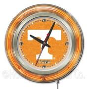 Holland Bar Stool NCAA 15'' Double Neon Ring Logo Wall Clock; Tennessee