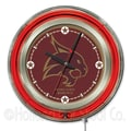 Holland Bar Stool NCAA 15'' Double Neon Ring Logo Wall Clock; Texas State