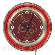 Holland Bar Stool NCAA 15'' Double Neon Ring Logo Wall Clock; Texas State