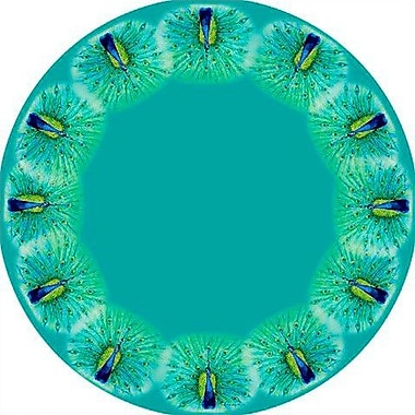 Betsy Drake Interiors Peacock Round Tablecloth; 68'' W Round