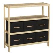 Household Essentials Tower Organization Storage Stand With 6 Bins