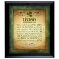 American Coin Treasure Irish Blessing with 2 Three Pence Wall Framed Textual Art