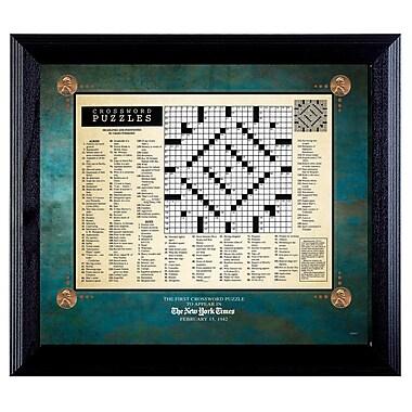 American Coin Treasure New York Times First Crossword Puzzle Framed Memorabilia