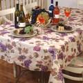Violet Linen European Vineyard Tablecloth; 70'' W x 52'' D