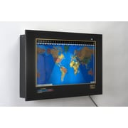 Geochron Geochron Original Kilburg World Wall Clock; Black Anodized, Black Trim