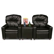 Dozy Dotes Theater Seating Kid's Recliner; Faux Leather - Black