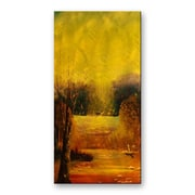 All My Walls 'Gold Reflection' by Lorenzo Roberts Original Painting on Metal Plaque