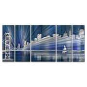 All My Walls San Francisco Skyline by Ash Carl 5 Piece Graphic Art Plaque Set; Cool