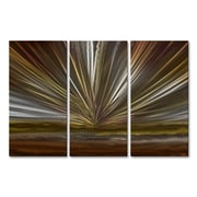 All My Walls On The Horizon IV Metal Wall Art; Brown