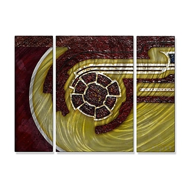 All My Walls 'Inversely Proportional' by Duncan Asper 3 Piece Graphic Art Plaque Set