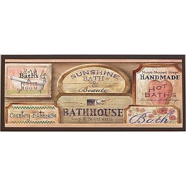 Illumalite Designs Bath House Vintage Framed Textual Art on Plaque