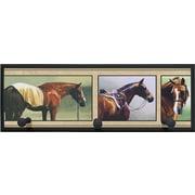 Illumalite Designs Horse Snapshots w/ Pegs Painting Print on Plaque