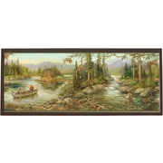 Illumalite Designs Rustic Creek Painting Print on Plaque