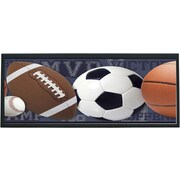 Illumalite Designs Mixed Sports Ball Framed Graphic Art; Black