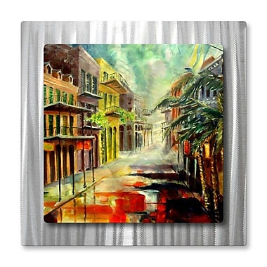 All My Walls 'New Orleans Summer Rain' by Diane Milsap Painting Print Plaque