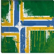 iCanvas Portland Flag, Splatters Painting Print on Canvas; 18'' H x 18'' W x 0.75'' D