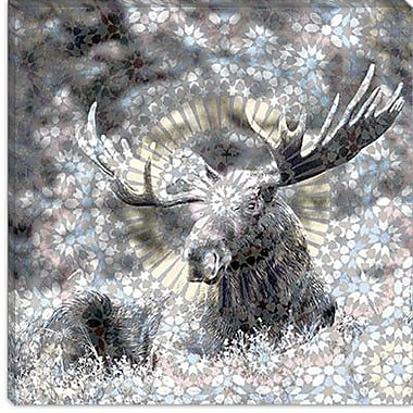 iCanvas Male Canadian Moose #3 Graphics Art on Canvas; 12'' H x 12'' W x 1.5'' D
