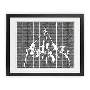 Postertext The Three Musketeers Framed Graphic Art