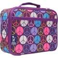 Wildkin Olive Kids Paisley Lunch Box; Peace Signs Purple