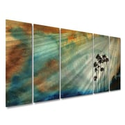 All My Walls 'Tall Trees In The Sun' by Megan Duncanson 5 Piece Painting Print Plaque Set