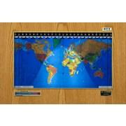 Geochron Geochron Original Kilburg World Wall Clock; Wood Veneer Honey Oak