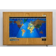 Geochron Geochron Boardroom Model World Wall Clock; Honey Oak