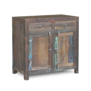 Timbergirl Reclaimed Wood 2-Door 2 Drawer Sideboard Cabinet