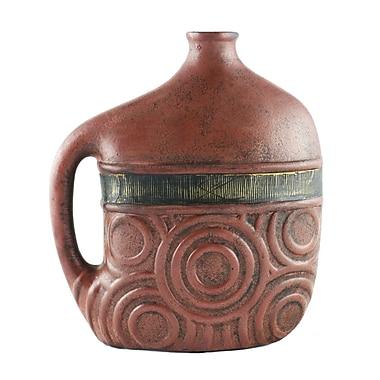 Timbergirl Rustic Ceramic Vase; 7.5'' H x 3'' W x 9'' D