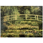 Oriental Furniture 'Japanese Bridge at Giverny' by Claude Monet Painting Print on Wrapped Canvas