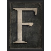 The Artwork Factory Letter F Framed Textual Art