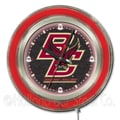 Holland Bar Stool NCAA 15'' Double Neon Ring Logo Wall Clock; Boston College