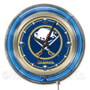 Holland Bar Stool NHL 15'' Double Neon Ring Logo Wall Clock; Buffalo Sabres
