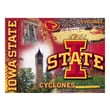 Holland Bar Stool NCAA Printed Canvas; Iowa State