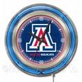 Holland Bar Stool NCAA 15'' Double Neon Ring Logo Wall Clock; Arizona