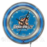 Holland Bar Stool NCAA 15'' Double Neon Ring Logo Wall Clock; Grand Valley State