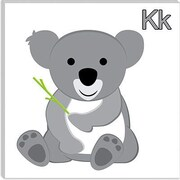 iCanvas Kids Children K is for Koala Graphic Canvas Wall Art; 12'' H x 12'' W x 0.75'' D