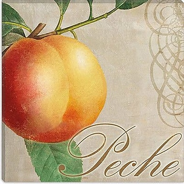 iCanvas ''Fruits Classique (Peach)'' Canvas Wall Art by Colors Bakery; 18'' H x 18'' W x 1.5'' D
