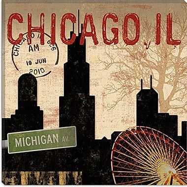 iCanvas Chicago Skyline II from Sparx Studio Graphic Art on Canvas; 12'' H x 12'' W x 1.5'' D