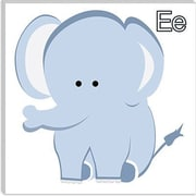 iCanvas Kids Art E is for Elephant Graphic Canvas Wall Art; 12'' H x 12'' W x 0.75'' D